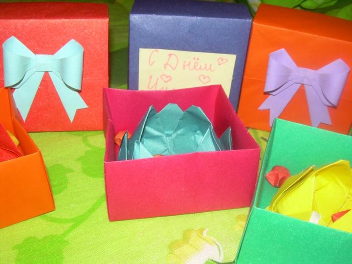 В подарок учителю оригами 612